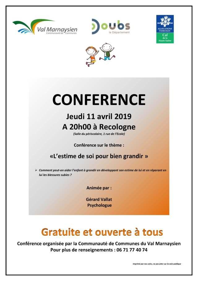 Affiche conférence avril 2019