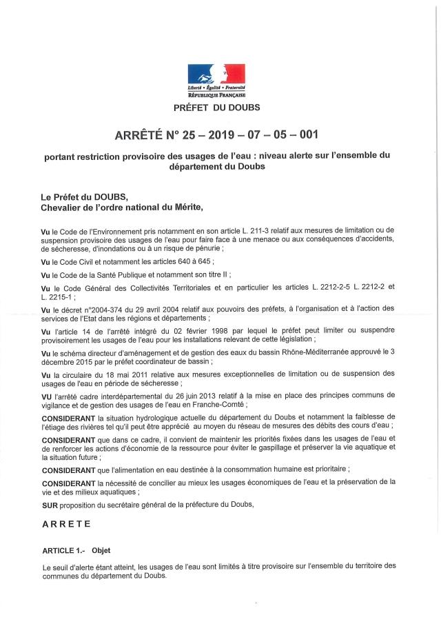 Arrêté Niveau 1 alerte sécheresse_Page_1