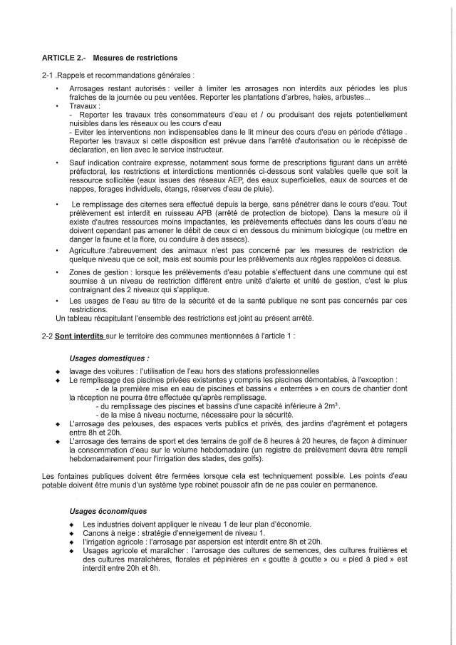 Arrêté Niveau 1 alerte sécheresse_Page_2